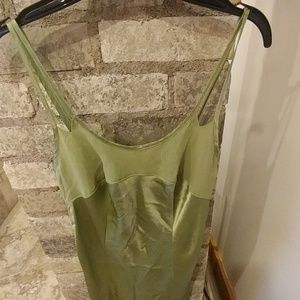 Green satin nightie
